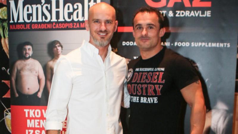 Urednik Men's Health Krešimir Šego i Marino Bašić